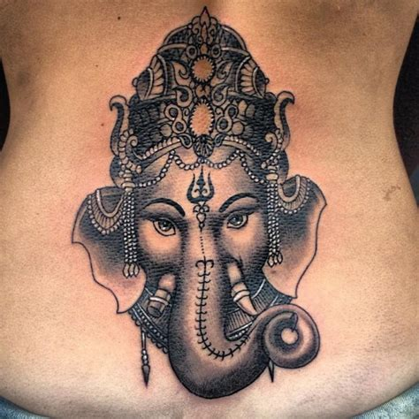 beautiful lord ganesh tattoo design hd wallpaper on men