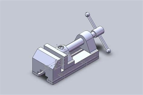 bench vice assembly bench vice assembly solidworks 3d cad model grabcad