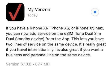 verizon app   esim activation  iphone xs iphone xs max  iphone xr techristiccom