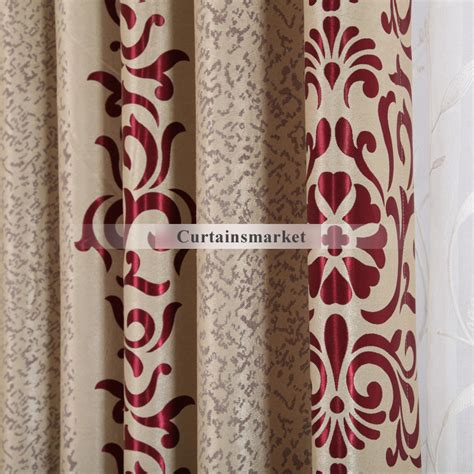 modern red curtains home decoration curtains with red patterns in modern style