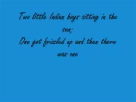 10 little indian boys poem from and then there were none