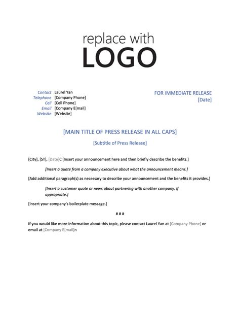 46 Press Release Format Templates Exles Sles Template Lab Press Release Template