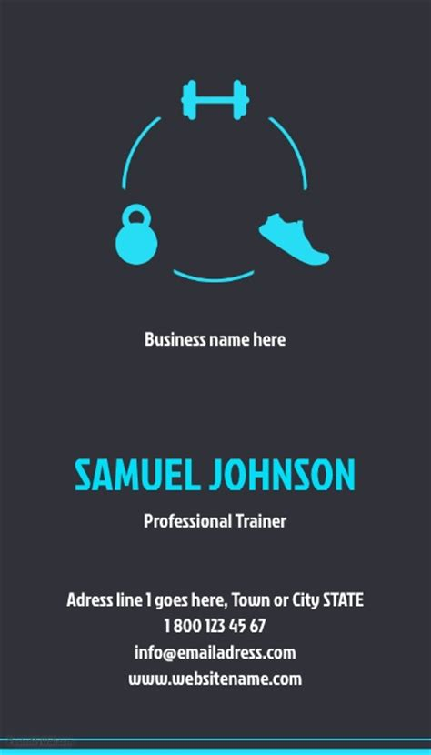 personal trainer business card template personal trainer business card template postermywall