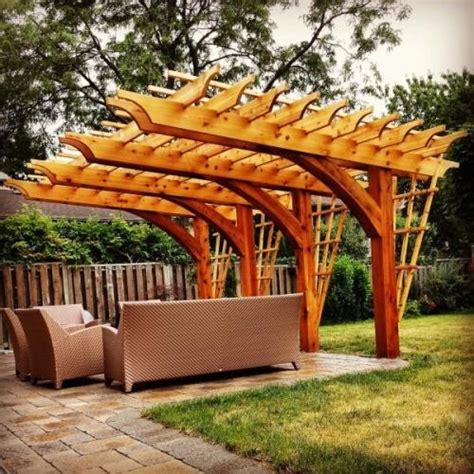 pre made pergola timber structures at sound cedar lumber