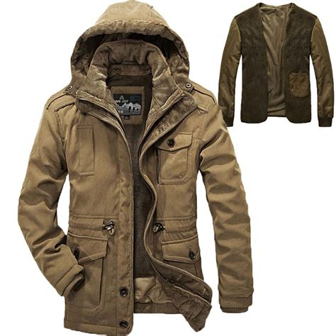 Jaket Outware Navy Original aliexpress buy afs jeep brand windproof hooded winter jacket coats parka khaki army