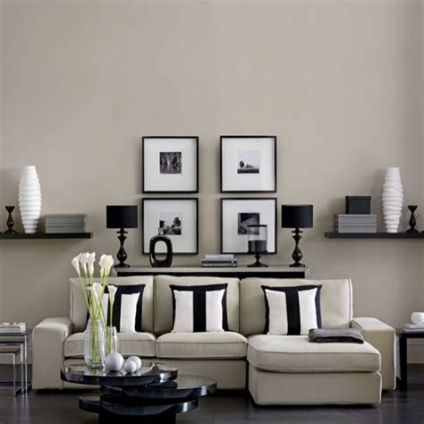 Decorating Ideas Neutral Living Room Modern Monochrome Living Room Living Room Housetohome
