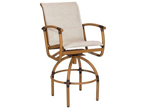 padded swivel bar stools woodard glade isle padded sling aluminum swivel bar stool