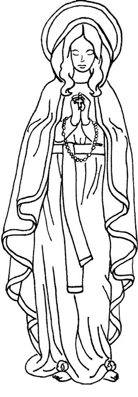 coloring page of virgin mary immaculate conception coloring pages vbs kingdom