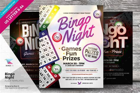 bingo night flyer templates by kinzi21 graphicriver
