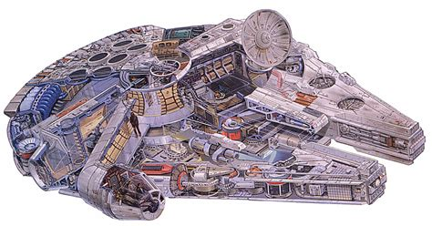 interior layout of millennium falcon millennium falcon
