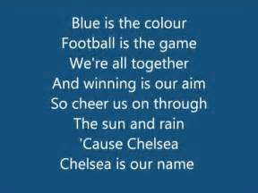 what is the meaning of the color blue chelsea fc anthem song blue is the colour with lyrics