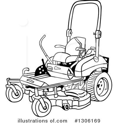 Riding Lawn Mower Clip Art Black And White Rf Clipart  sketch template