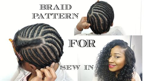 Best Braiding Pattern For Sew In When You Have No Edges | braid pattern for sew in weave diy doovi