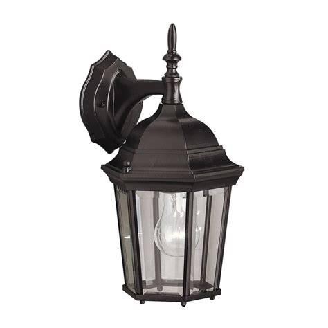 Outdoor Lighting Kichler Shop Kichler Lighting 14 75 In H Black Outdoor Wall Light At Lowes