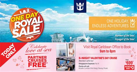 Royal Caribbean Gift Card Discount - royal caribbean partner cruises free 1 day in house promo 28 jan 2016