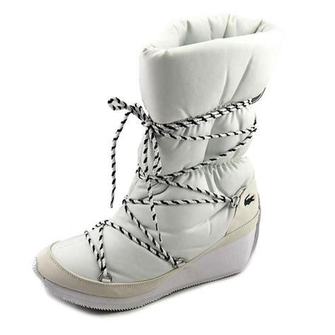 lacoste arbonne white snow boot boots
