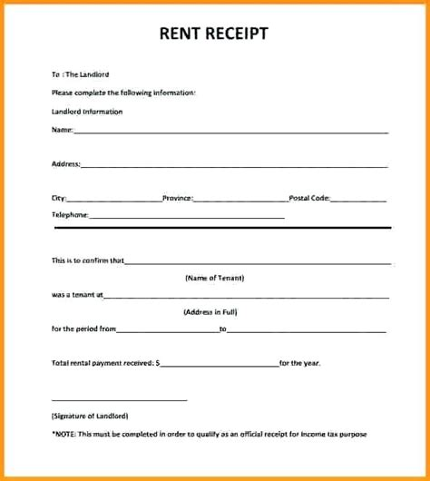 rental receipt template doc rent receipt format doc kinoroom club