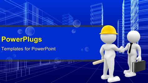 powerpoint themes for computer engineering powerpoint template agreement reached as engineer shake