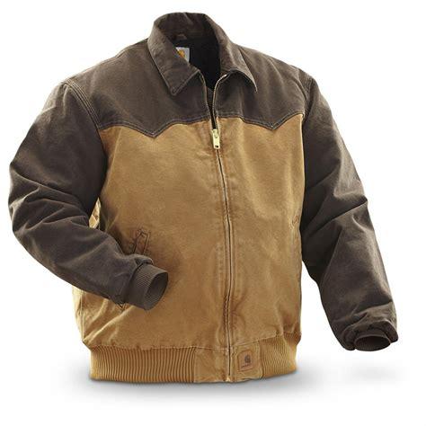 carhartt 174 sandstone duck santa fe jacket carhartt brown