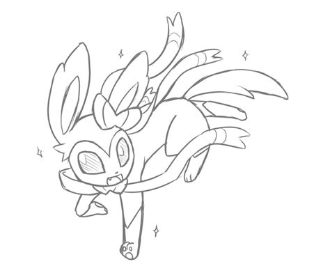 pokemon coloring pages sylveon sylveon by rakkuguy on deviantart