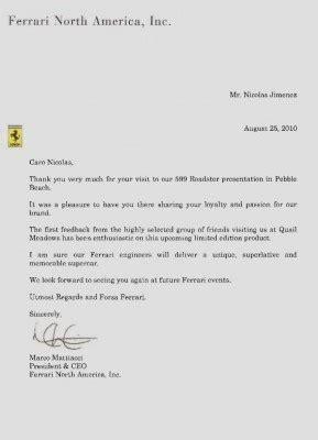 Pr Sentation Lettre L Am Ricaine l affaire de la f599 roadster 224 pebble et