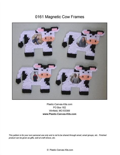 cow pattern frame cow magnetic picture frames plastic canvas pattern or