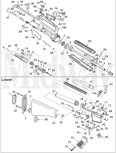 ar 15 parts diagram ar 15 schematic is here at midwayusa