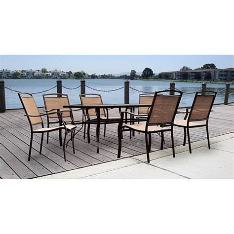 mainstays sand dune 7 patio dining set seats 6