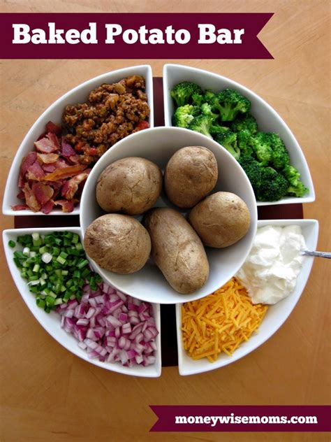 baked potato bar topping ideas baked potato bar easy party favorite moneywise moms
