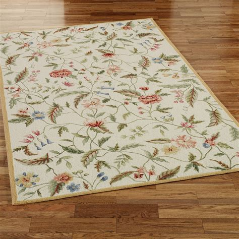 Springtime Views Area Rugs Floral Rugs