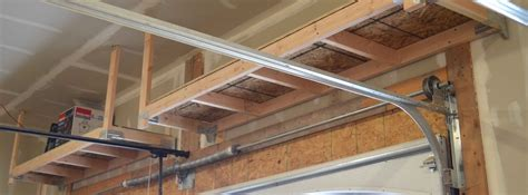 build garage shelves diy how to build suspended garage storage shelves building strong