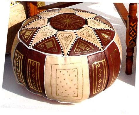 Moroccan Ottoman by Ottoman Poof Moroccan Leather Hassock