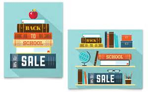 Sales Book Template by Back To School Books Sale Poster Template Design