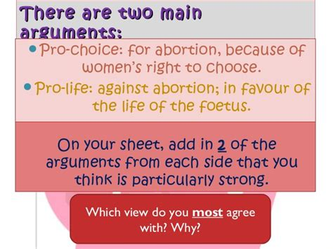 7 Arguments On The View by Pro Or Pro Choice