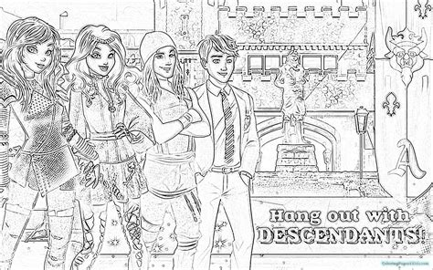 coloring pages the descendants descendants coloring pages 7 coloring pages for kids
