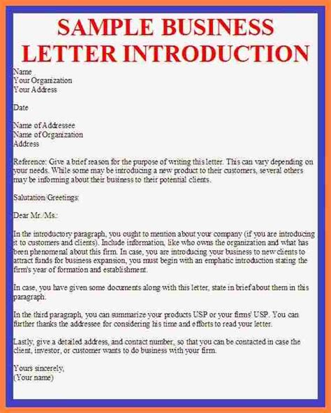 7 company business introduction letter sle company