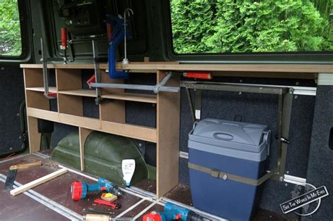 Storage Ideas For Kitchen Cabinets by Homemade Campervan Conversion Of A Vw T4 Seetheworldinmyeyes