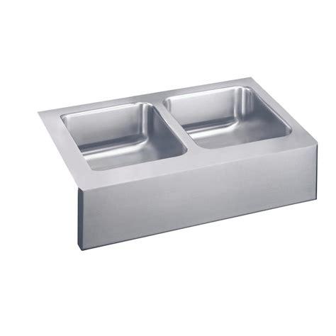 elkay stainless steel farmhouse sink elkay lustertone apron front stainless steel 33 in