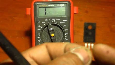 como probar  medir transistores   multimetro checar