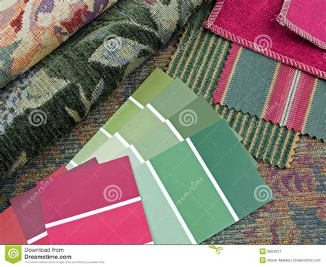 Red And Green Interior Design Plan Stock Image Image Free Fabric Sles For Interior Designers