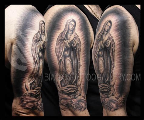virgin mary half sleeve tattoo designs catholic half sleeve tattoos images