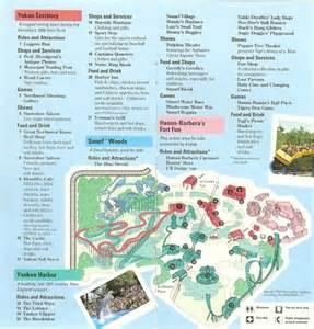 california s great america 1991 park map