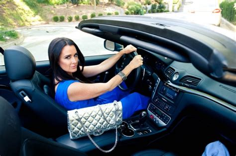 maserati celebrity you guessed it kyle richards in her maserati granturismo