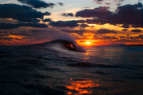 Ocean Waves Sunset Wallpapers   First HD Wallpapers