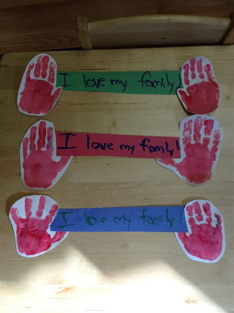 family themed crafts for family preschool thanksgiving projects