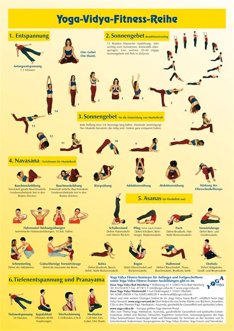 Yoga Plakat Kostenlos by Yoga Vidya Fitness Reihe Poster A1