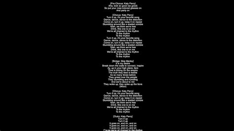 colored glasses lyrics lyrics chained to the rhythm katy perry featuring