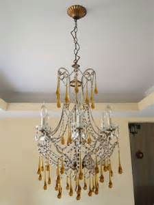 Drop Crystal Chandelier Tear Drop Glass And Crystal Chandelier Murano Venini Style