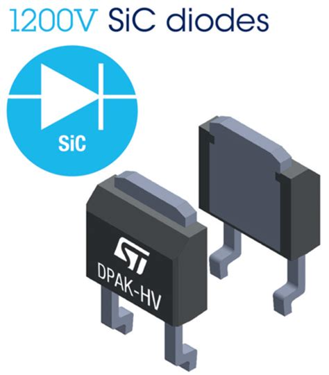 sic diodes stmicroelectronics stpsc6h12 1 200v sic diode with low forward voltage helps improve system