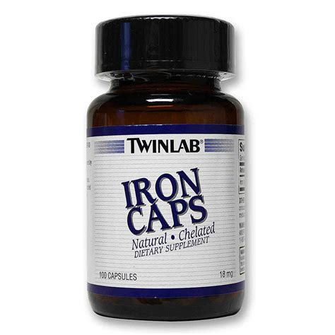 Suplemen Twinlab Twinlab Iron Caps 100 Caps Evitamins